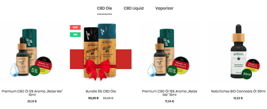 Breathe Organics Produkte